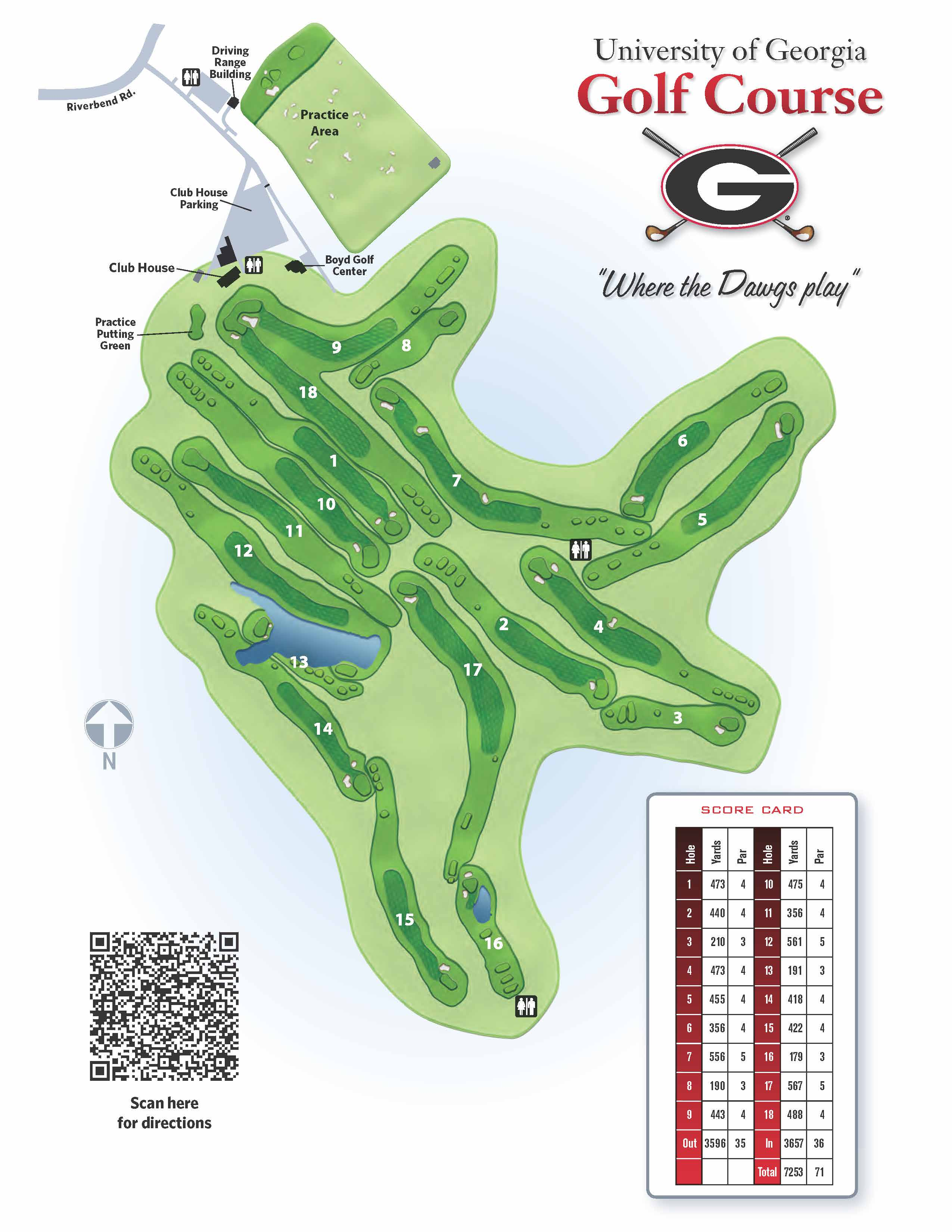 Map of the UGA Golf Course